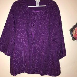 Pretty purple plus size ribbon jacket in 22w 24w
